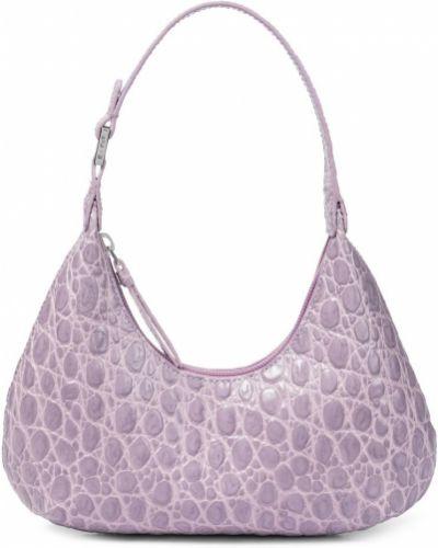 Фиолетовая кожаная косметичка с тиснением By Far