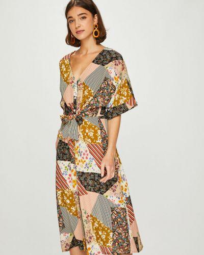 Платье миди с V-образным вырезом на пуговицах Answear
