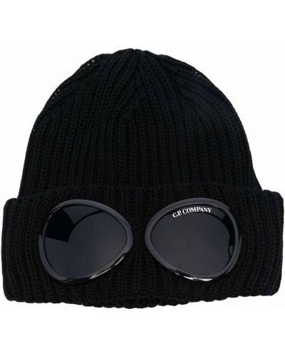 Шерстяная шапка бини - черная C.p. Company