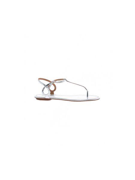 Białe sandały Aquazzura