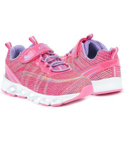 Брендовые текстильные розовые кроссовки Kidix