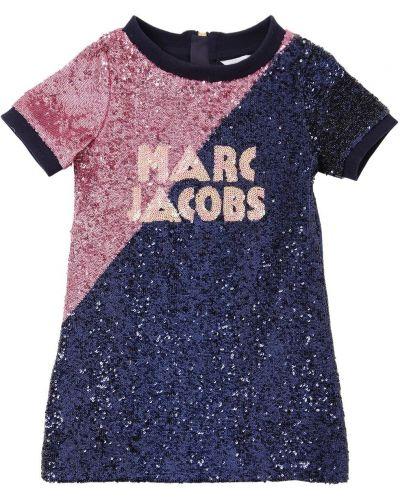 Платье с пайетками на молнии Little Marc Jacobs