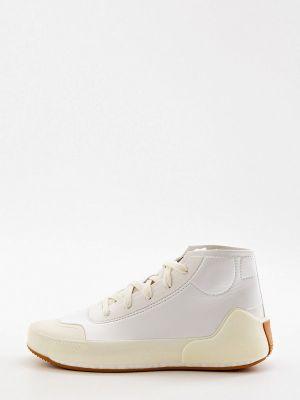 Кожаные высокие кроссовки - белые Adidas By Stella Mccartney