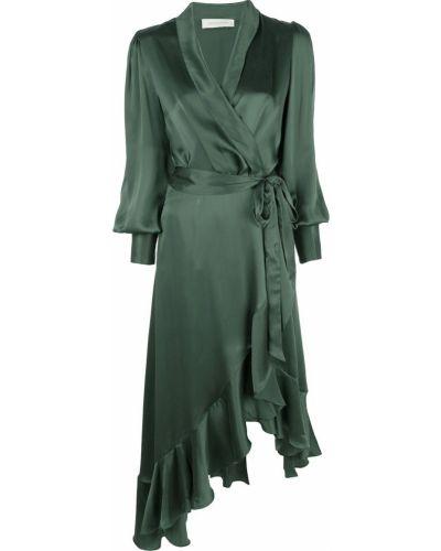Платье макси с запахом с V-образным вырезом Zimmermann