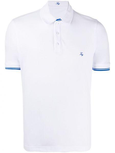 Koszula krótkie z krótkim rękawem klasyczna z paskami Fay