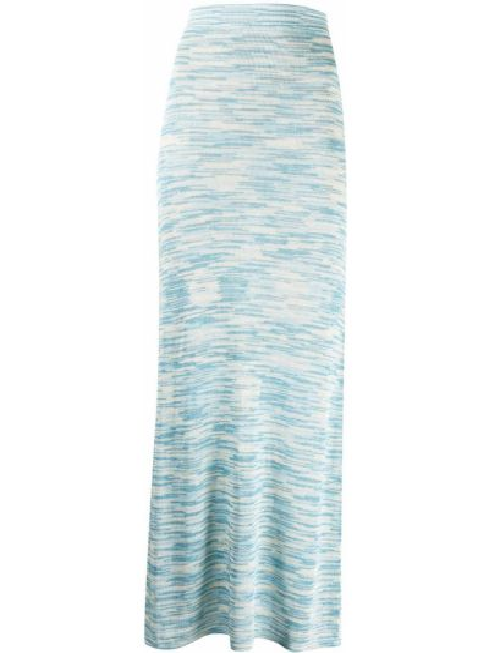 Синяя юбка из вискозы Alexis