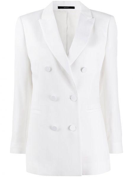 Приталенный белый пиджак двубортный Paul Smith
