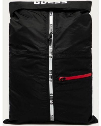 Czarny plecak z printem Guess
