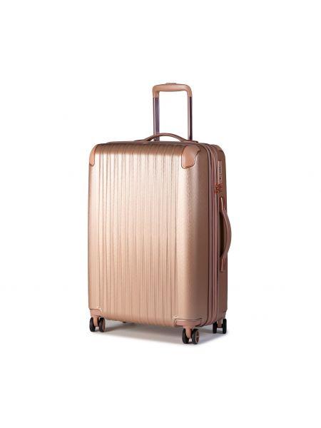 Różowa walizka średnia Titan