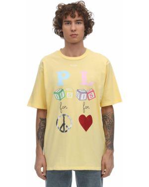 Żółty t-shirt bawełniany Klsh - Kids Love Stain Hands