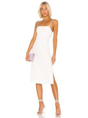 Повседневное шелковое белое платье Lpa