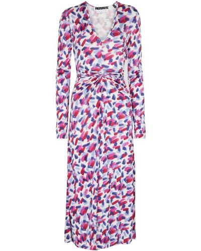 Fioletowa sukienka midi z wiskozy Rotate Birger Christensen