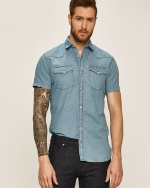 Koszula klasyczna dżinsowa z kołnierzem Produkt By Jack & Jones