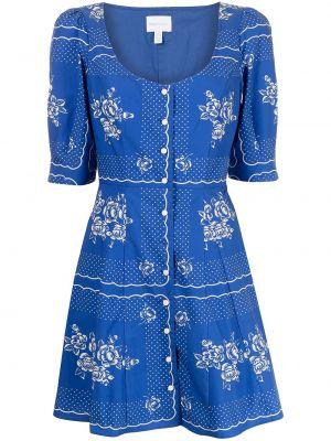 Платье мини в цветочный принт - синее Alice Mccall