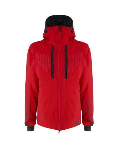 Красная спортивная куртка мембранная с капюшоном Glissade