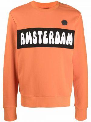 Pomarańczowa bluza z nadrukiem z printem Viktor & Rolf