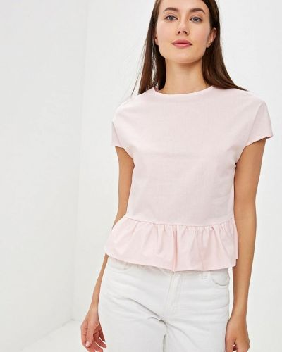 Розовая блузка с оборками Perfect J