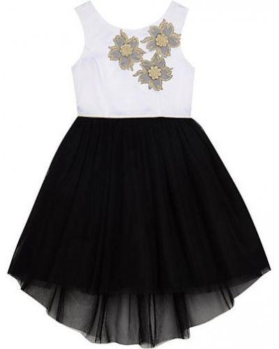 Czarna sukienka tiulowa bez rękawów Belle By Badgley Mischka
