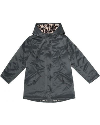 Czarny płaszcz przeciwdeszczowy od płaszcza przeciwdeszczowego prążkowany Bonpoint