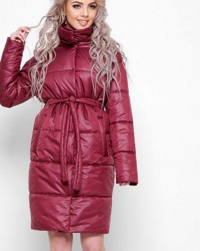 Бордовая утепленная куртка Carica&x-woyz