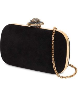 Czarna złota torebka na łańcuszku Alexander Mcqueen