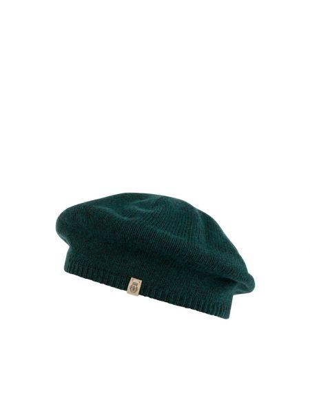 Zielony beret wełniany Roeckl