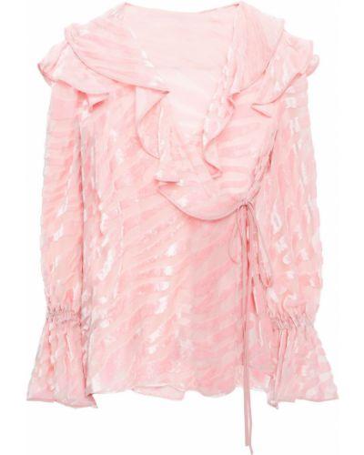 Bluzka kopertowa - różowa Vivetta
