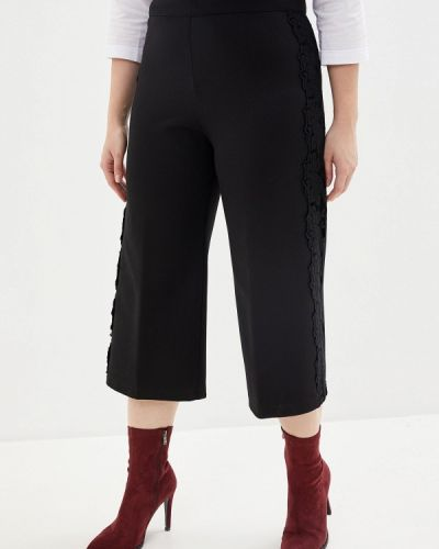 Черные расклешенные свободные брюки Over