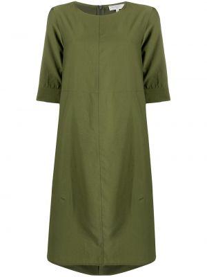 Хлопковое с рукавами зеленое платье Antonelli