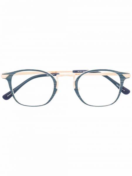 Złote niebieskie okulary Matsuda