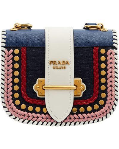 Кожаный сумка маленькая с пряжкой Prada