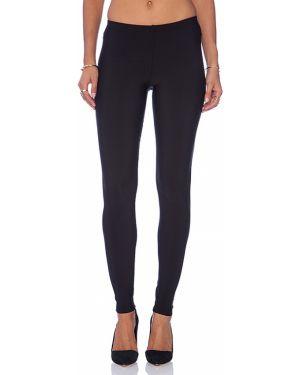 Spodnie na gumce ciepły czarne Plush