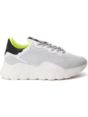 Белые кроссовки на шнуровке John Richmond