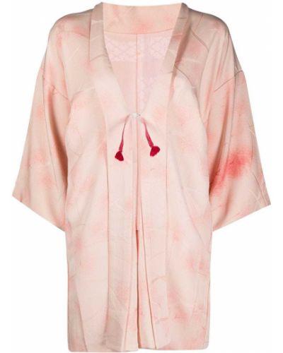Прямой шелковый розовый пиджак A.n.g.e.l.o. Vintage Cult