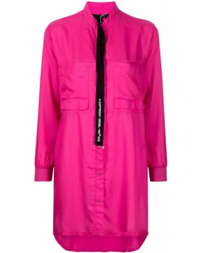 Розовое платье на пуговицах Diesel