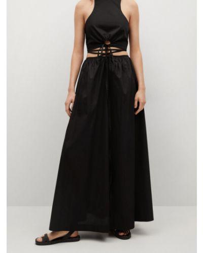 Długa spódnica - czarna Mango