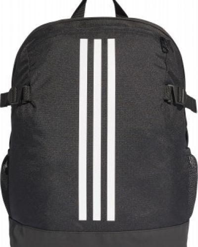 Рюкзак спортивный черный с нашивками Adidas