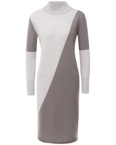 Кашемировое бежевое платье Lorena Antoniazzi