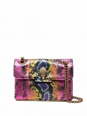 Złota torebka na łańcuszku - różowa Kurt Geiger London