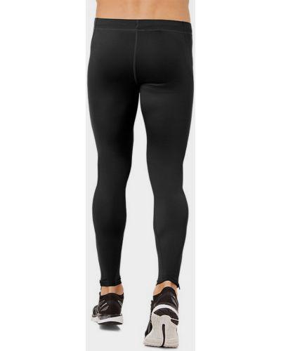 Черные спортивные леггинсы с карманами на молнии Asics