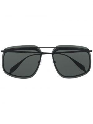 Черные солнцезащитные очки квадратные металлические Alexander Mcqueen
