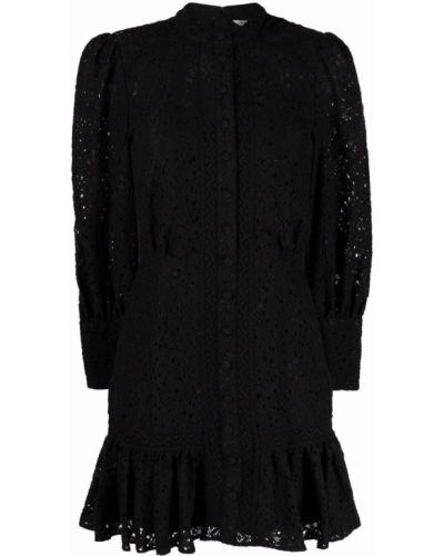 Кружевное черное платье для полных Veronica Beard