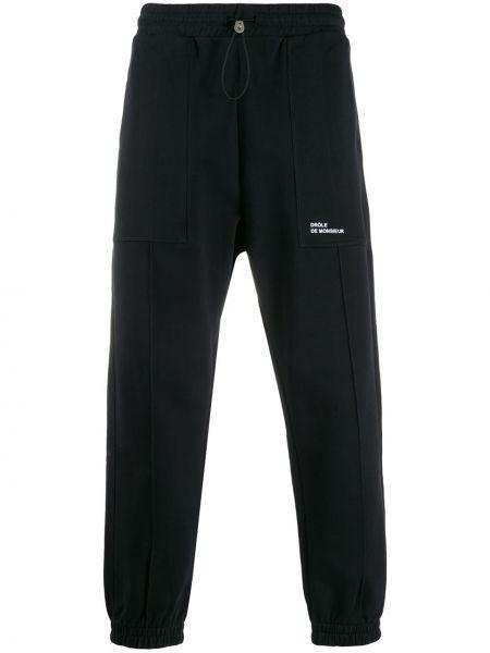 Czarne spodnie bawełniane Drole De Monsieur