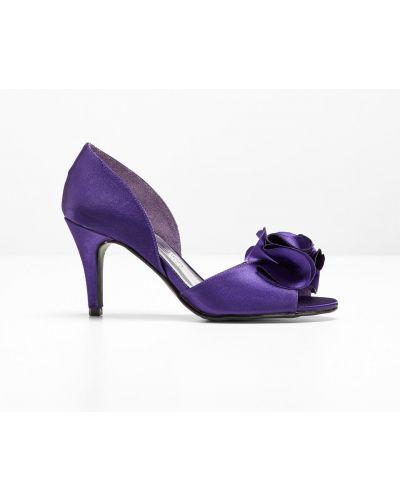 Туфли-лодочки на каблуке фиолетовый Bonprix