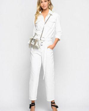 Белый джинсовый комбинезон Pinko
