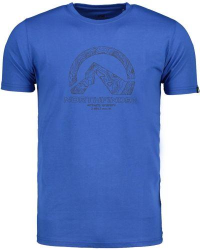 Niebieski t-shirt na co dzień bawełniany Northfinder