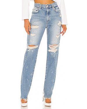 Прямые джинсы с карманами на пуговицах с пайетками Red Card