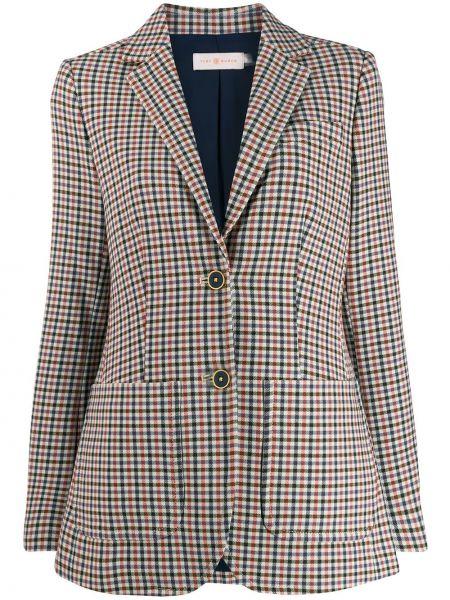 Классический пиджак двубортный на пуговицах Tory Burch