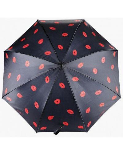 Зонт-трость черный Flioraj