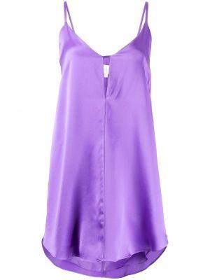 Шелковое платье мини - фиолетовое Michelle Mason